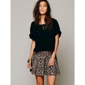 Free People Cheetah Skirt, XS
